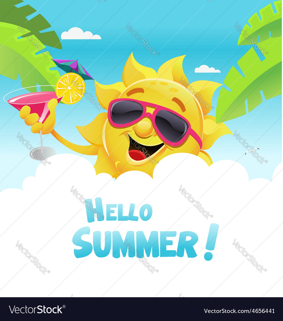 Hello summer vector
