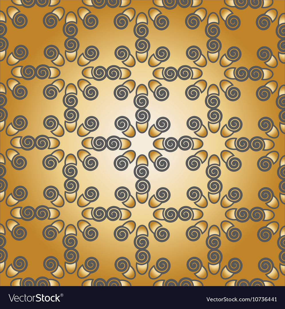 Pattern grey gold vector