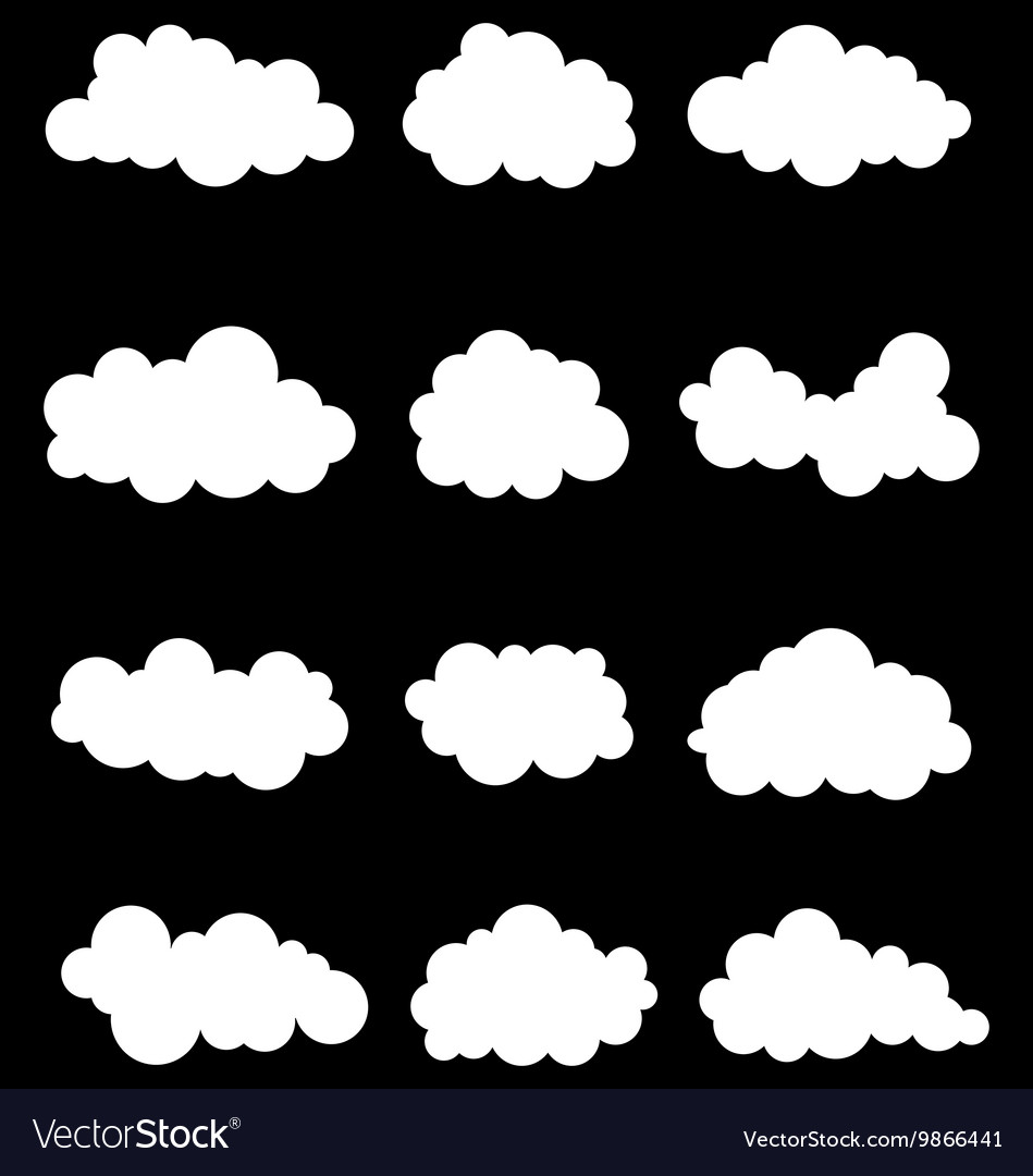 White clouds vector