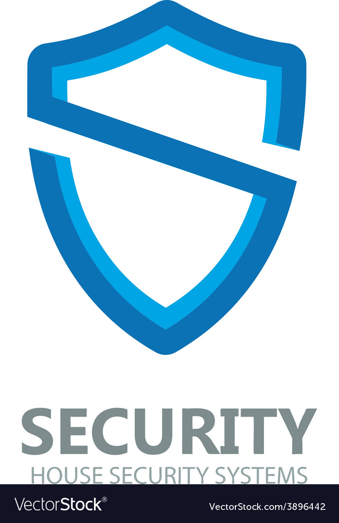 Logo shield in the form of the letter s vector