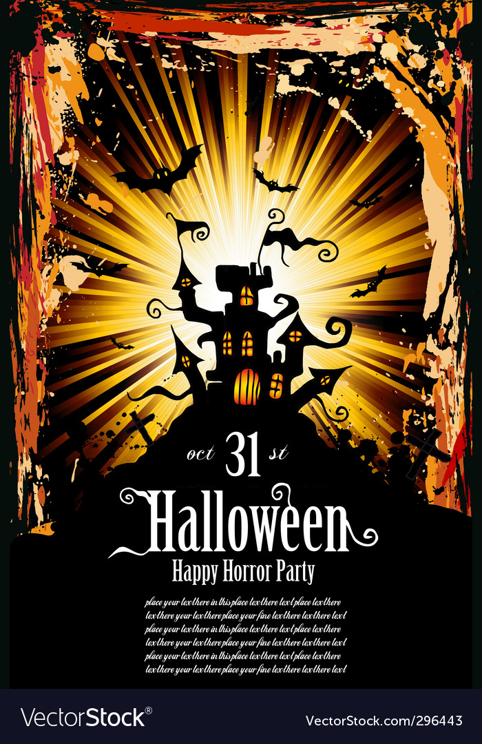 Halloween grunge flyer vector