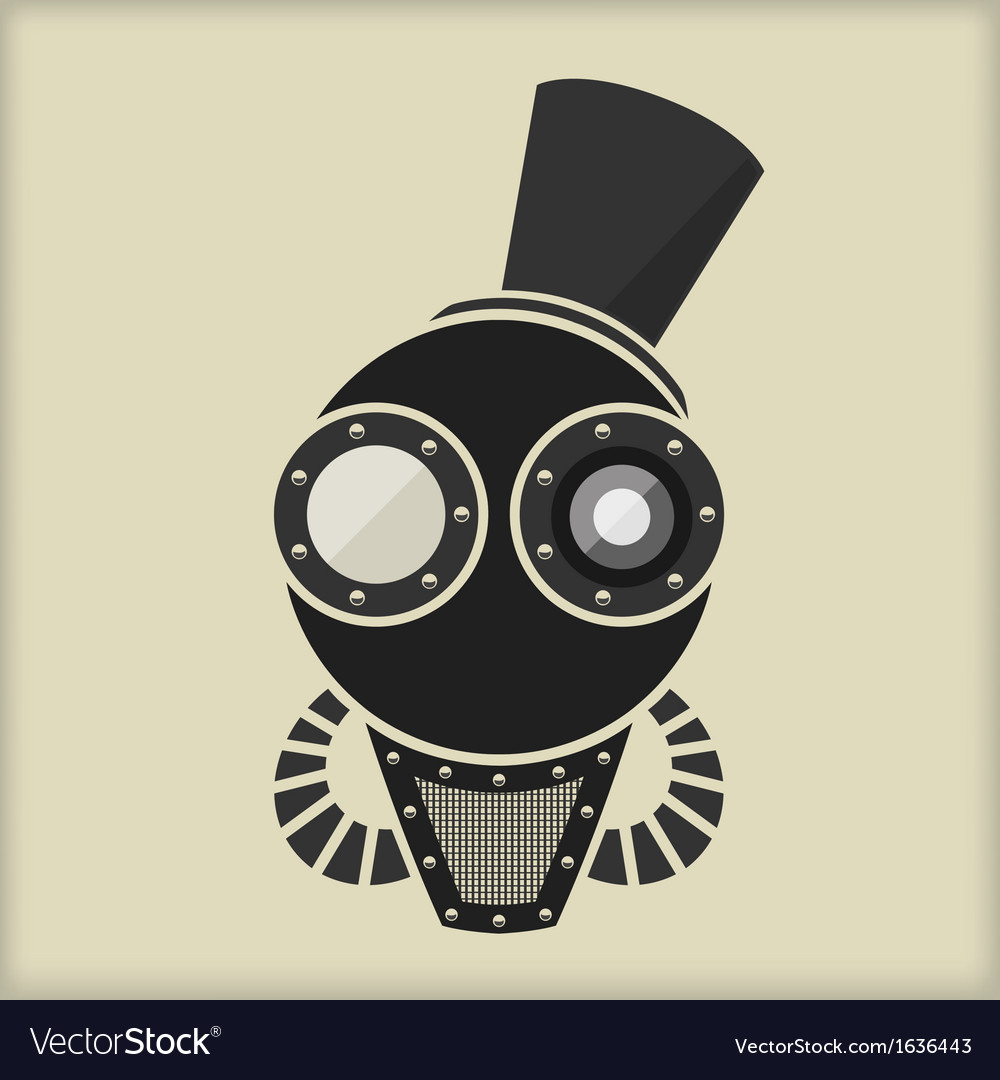 Steampunk  vintage character design  goggles vector