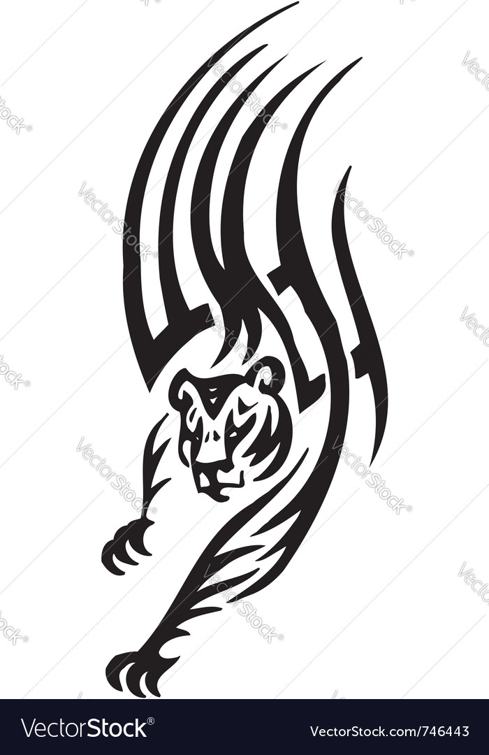 Tiger in tribal style  vector