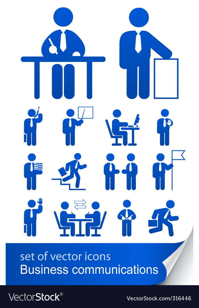 Set informational business icon vector