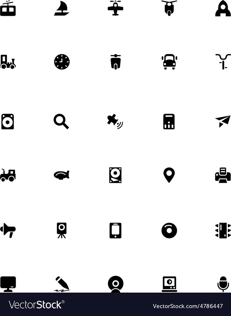 Mini icons 16 vector