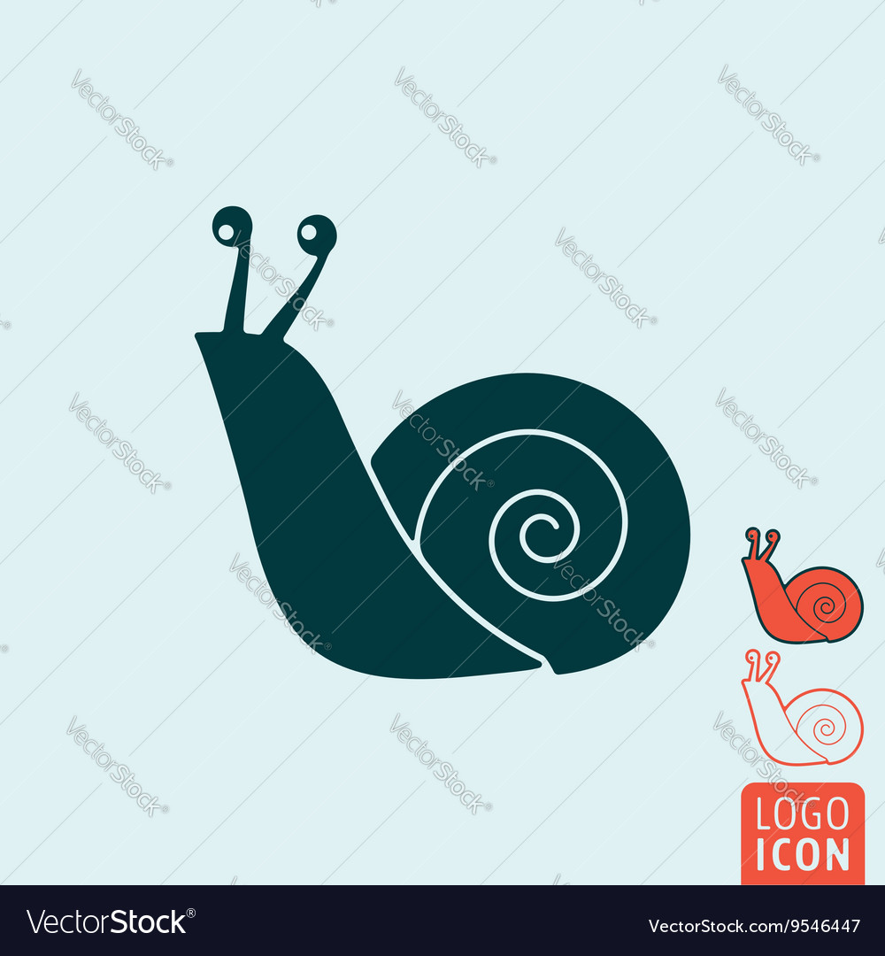 Snail icon isolated vector
