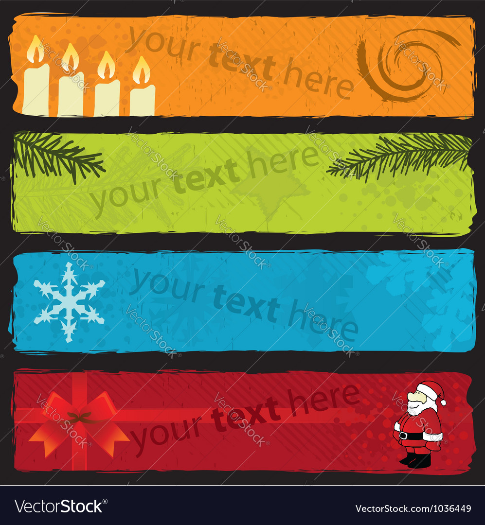 Christmas banner set vector