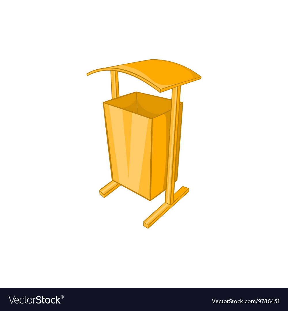 Dustbin for public spaces icon cartoon style vector