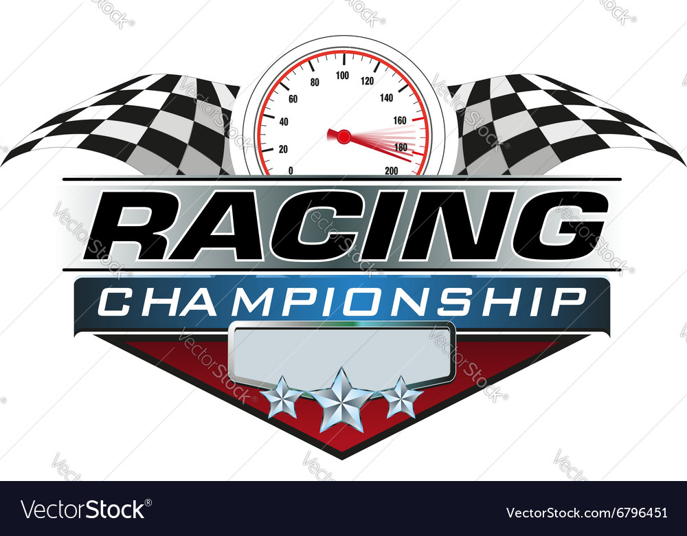 Racing championship icon vector