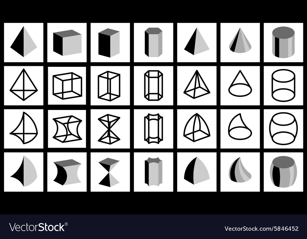 Geometrical figures vector