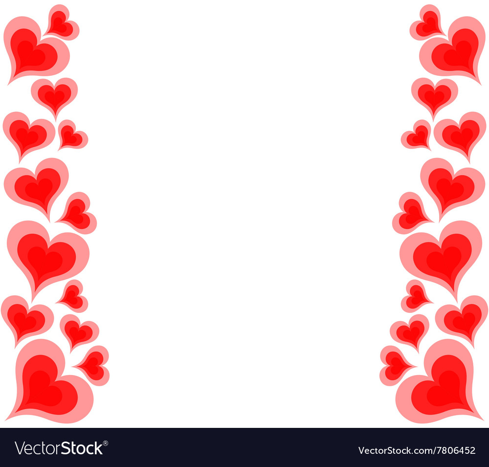 Hearts on white background vector