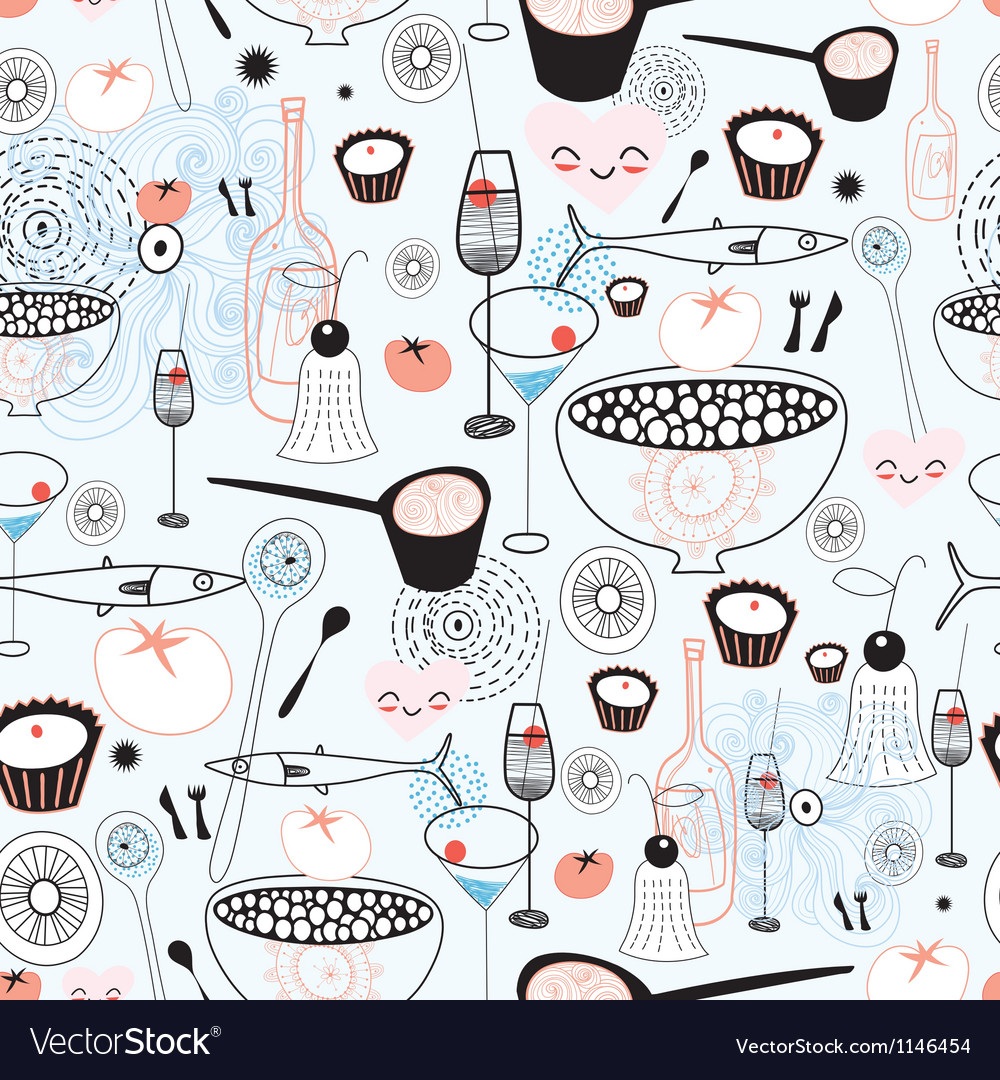 Texture of fine food and drink vector