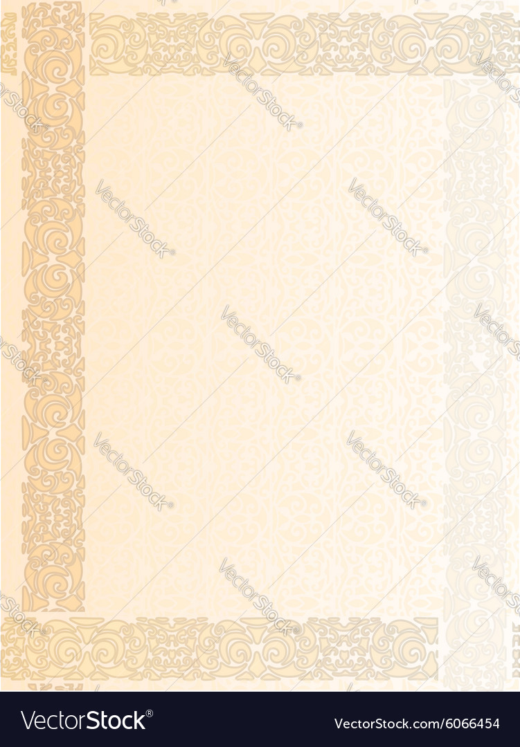 Vintage letter form background vector
