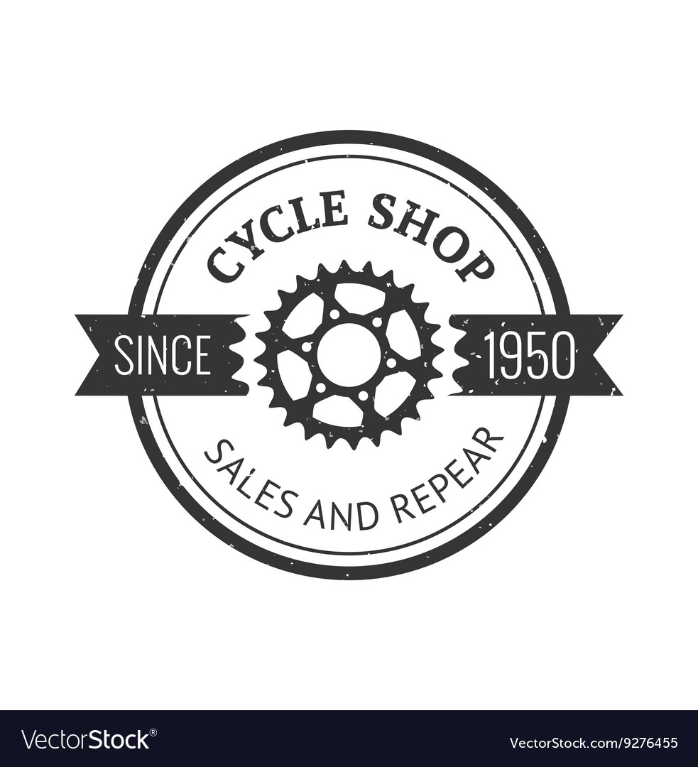Bike badge outline vector