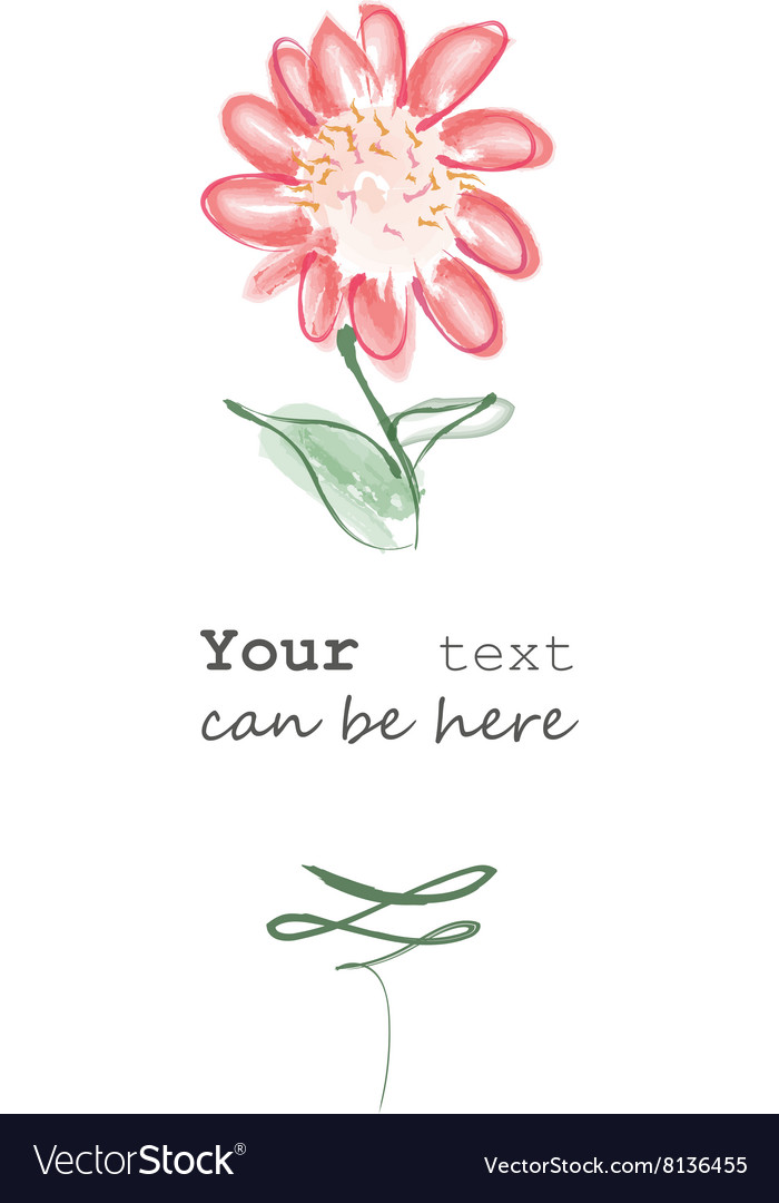 Flower with text vector