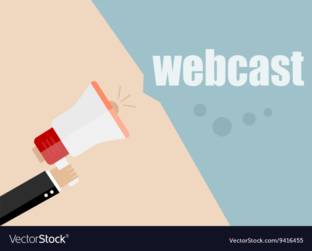 Webcast flat design business vector