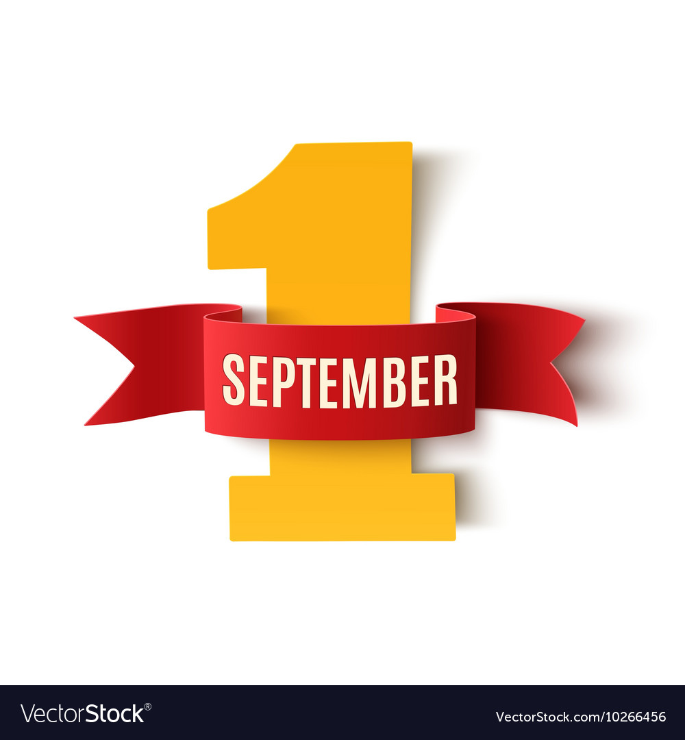 September 1st back to school background template vector