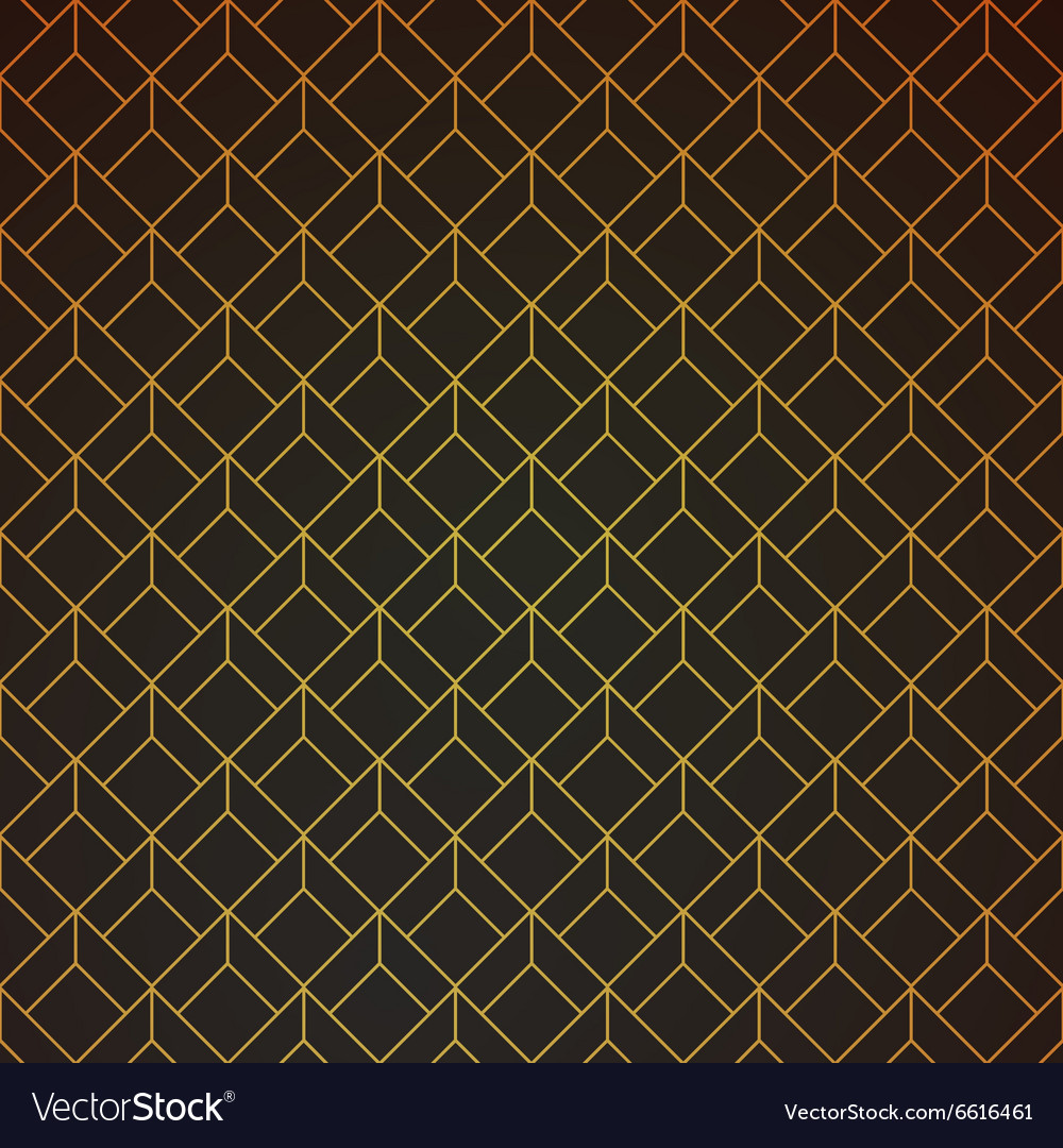 Gold and black geometric retro abstract seamless vector