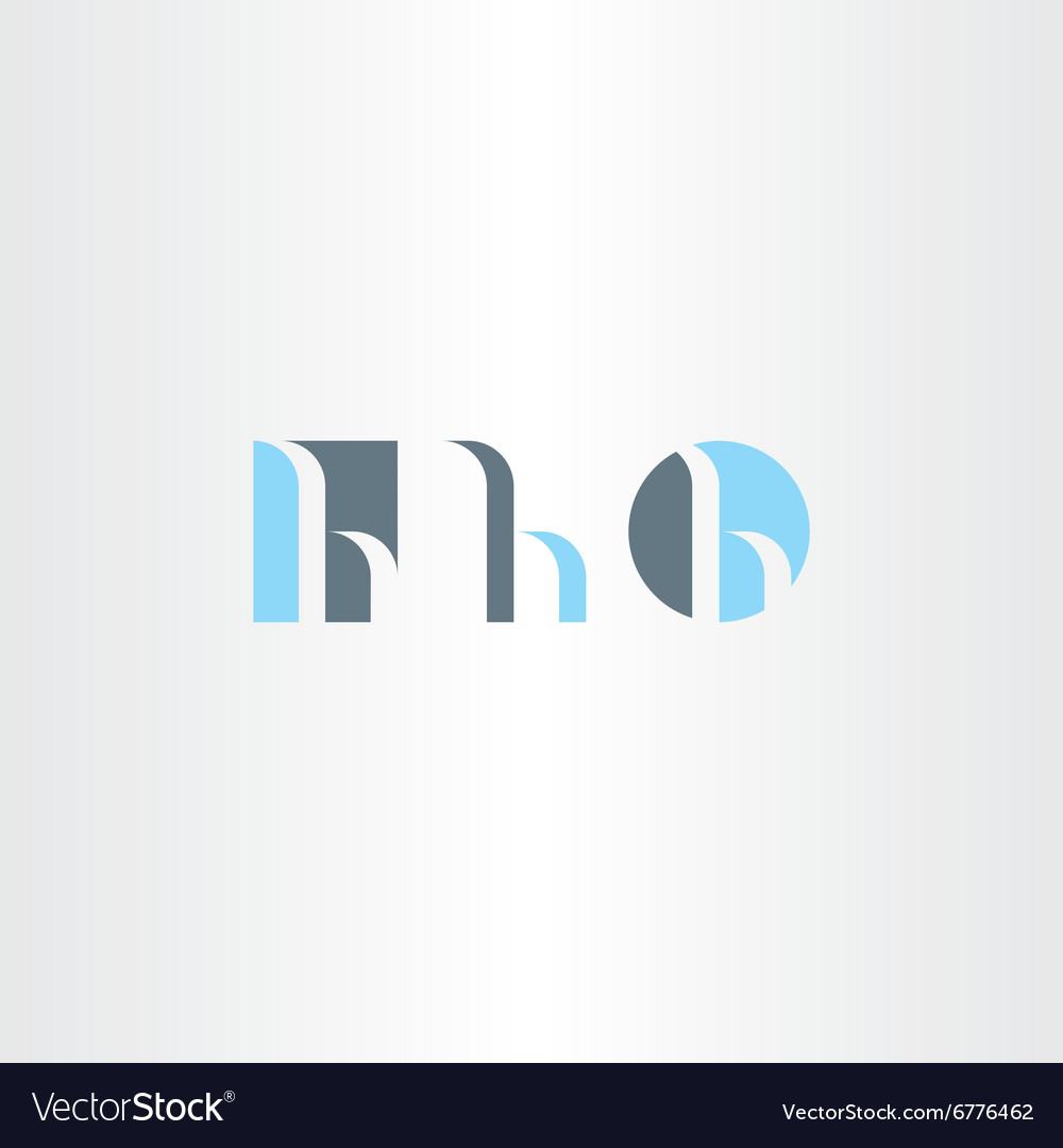 Small letter h logo set icon vector