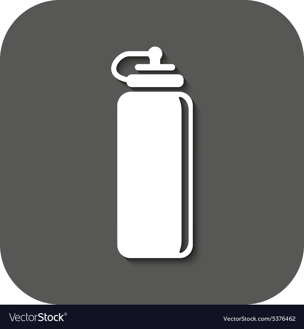 Sports water bottle icon bottle symbol flat vector