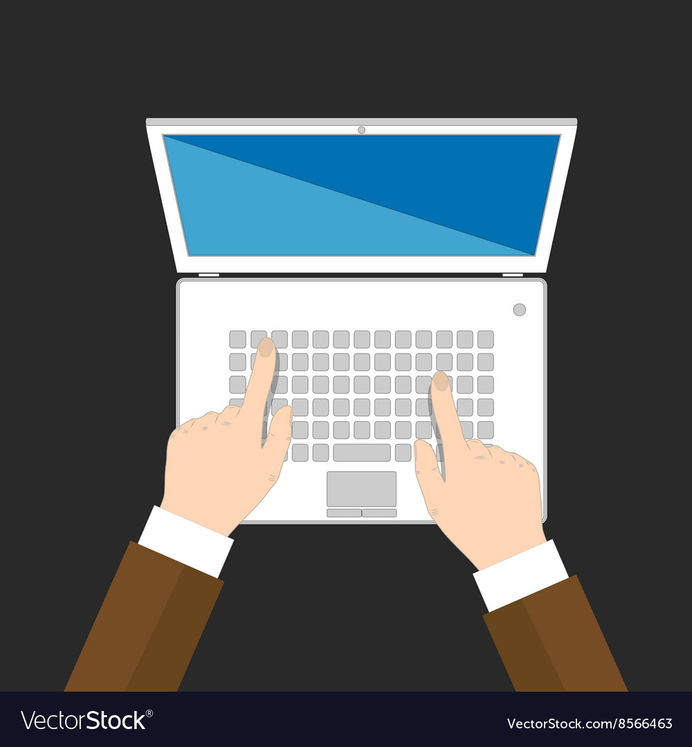 Businessman hands are typing on keyboard vector