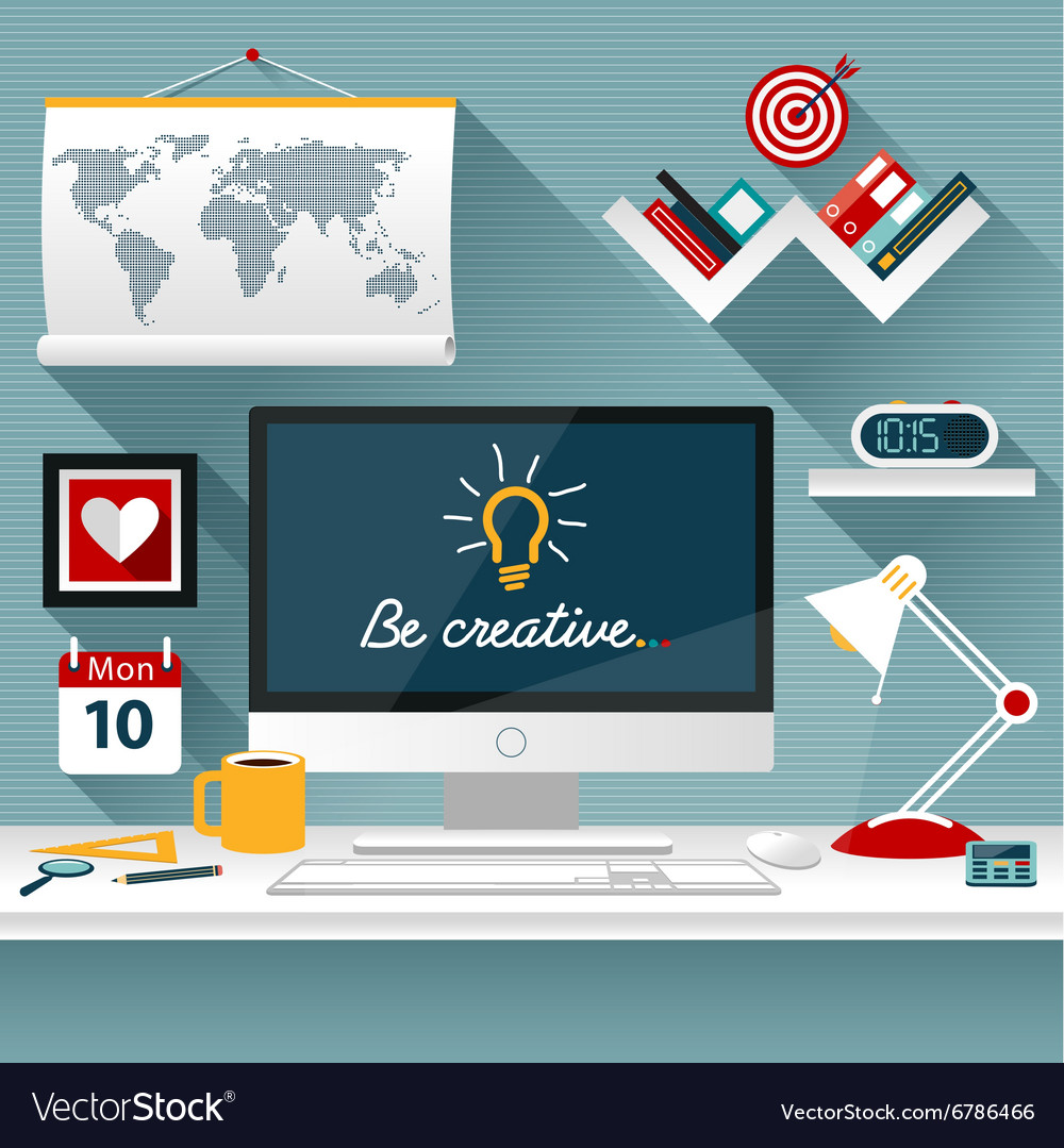 Modern business office vector