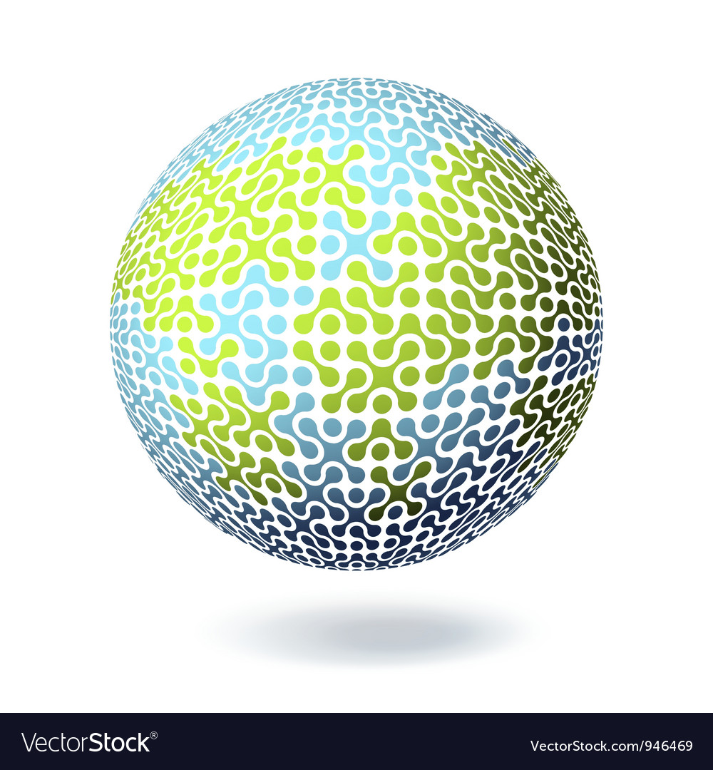 Abstract earth connect symbol vector