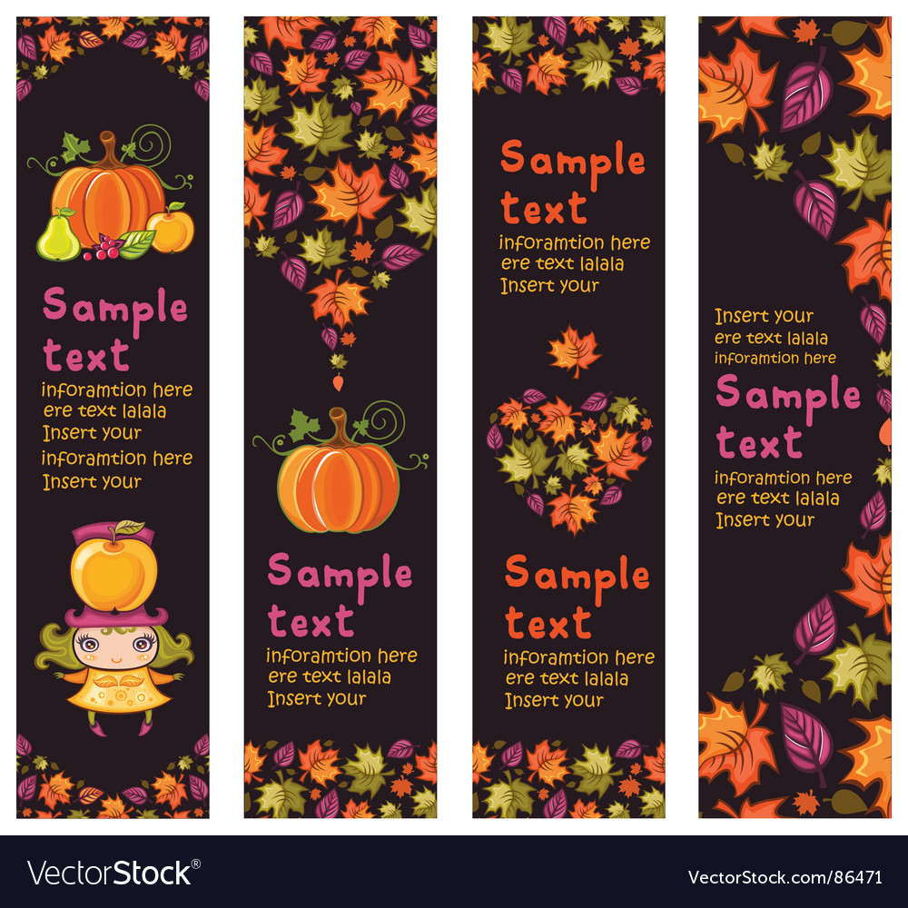 Autumnal banners vector
