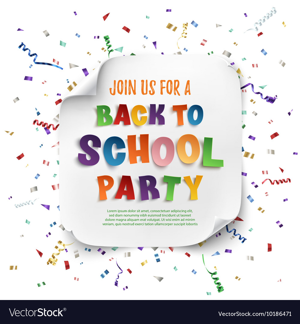 Back to school party poster vector