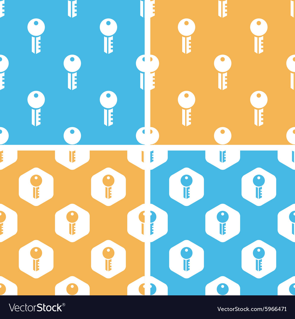 Key pattern set colored vector