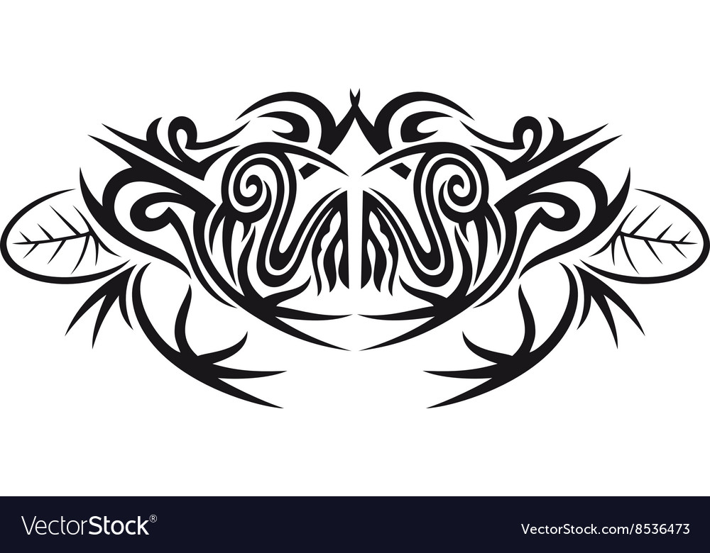 Tribal frog vector