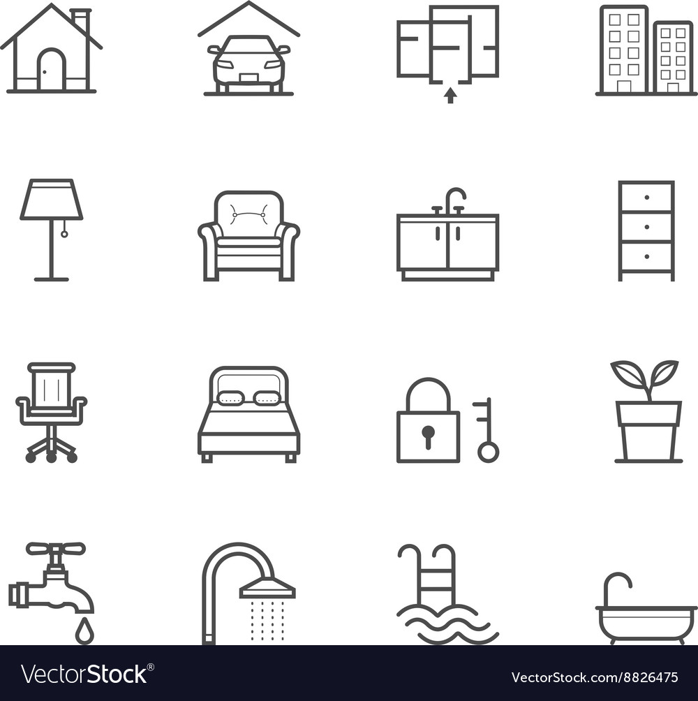 House and real estate icons vector
