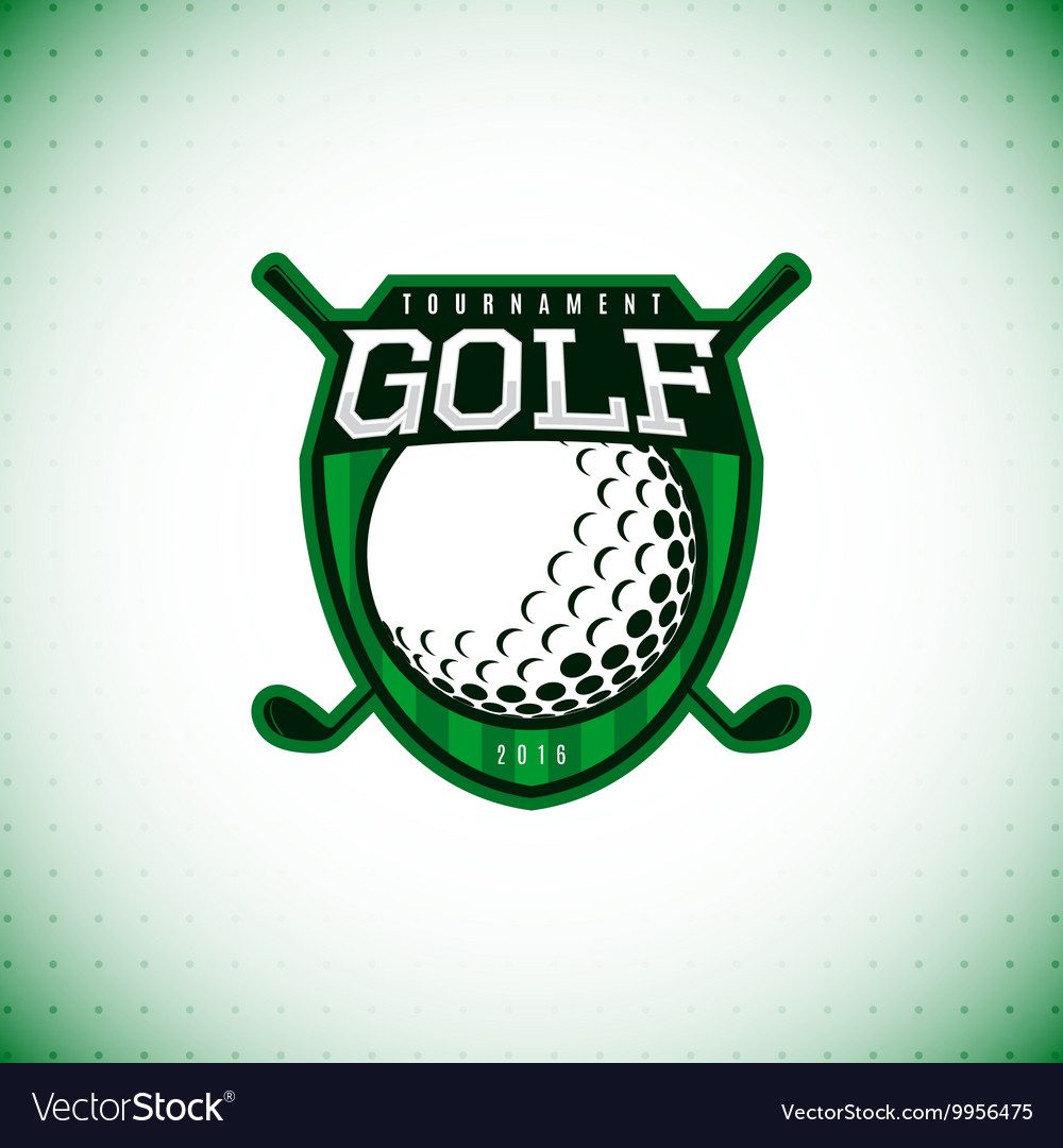 Logo of golf championship vector