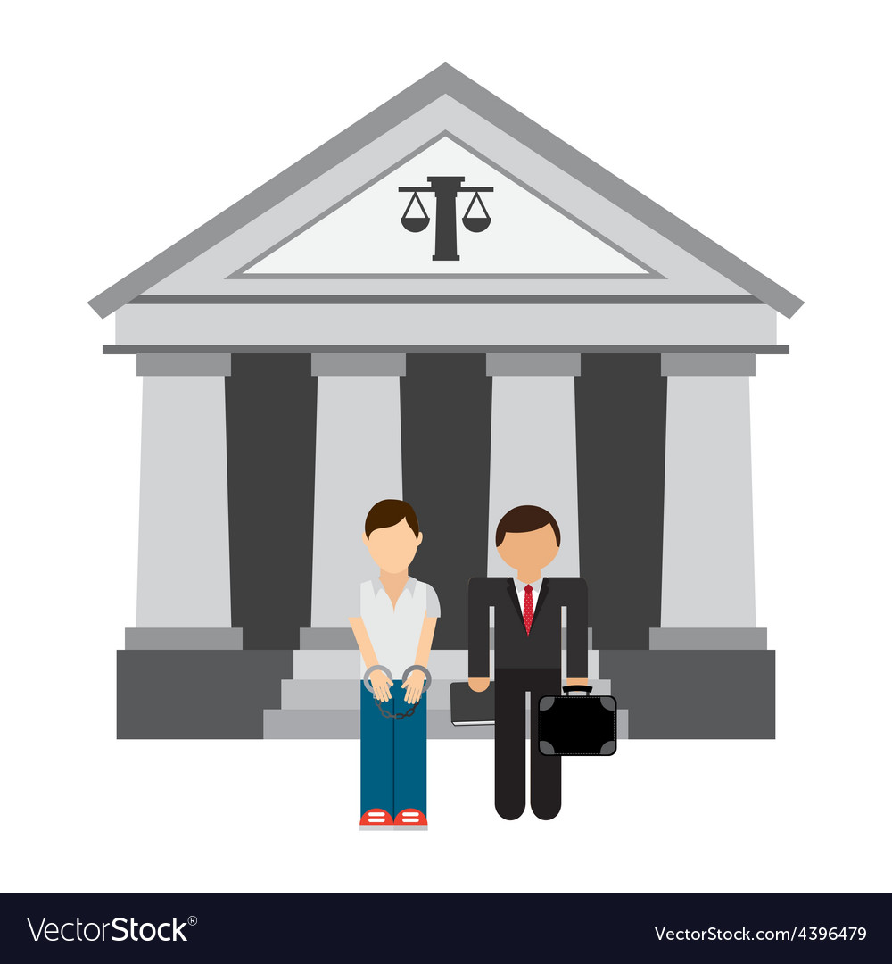 Lawyer man vector