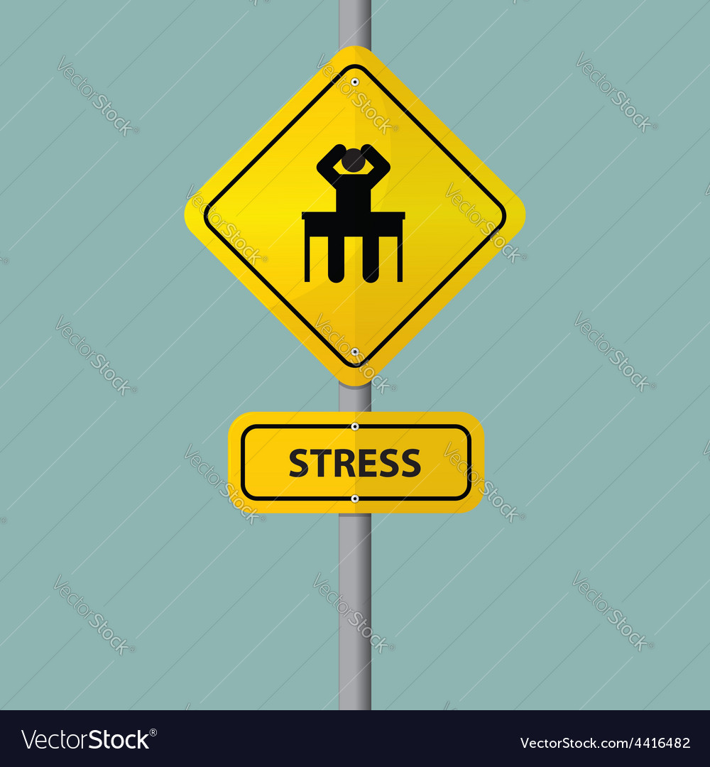 Road sign of businessman seriously vector