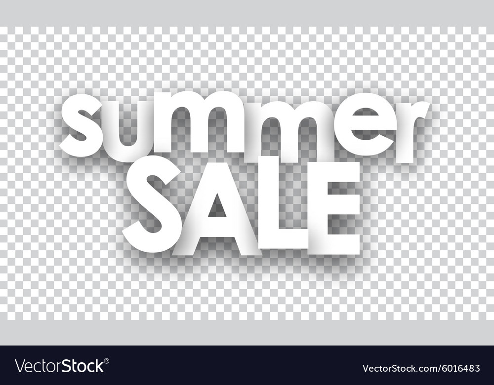Paper summer sale sign vector