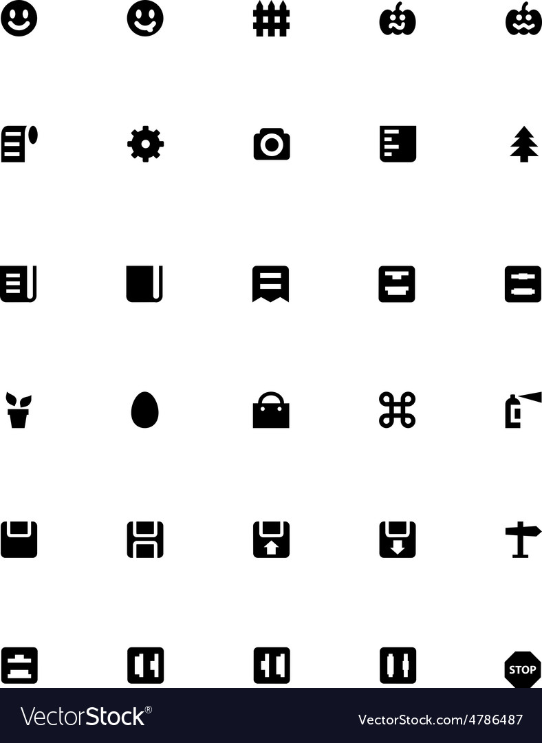 Mini icons 28 vector