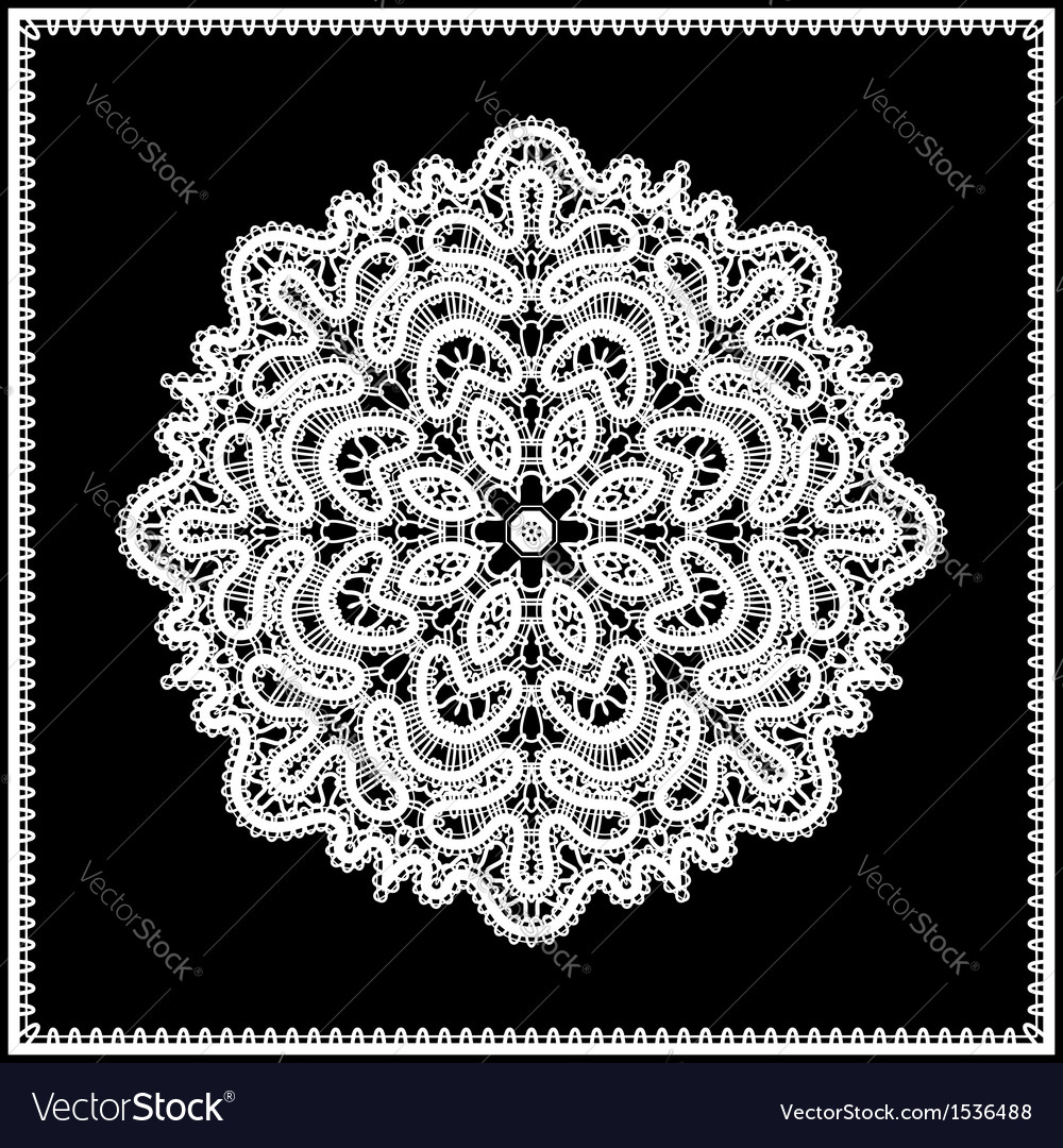 Lace doily vector