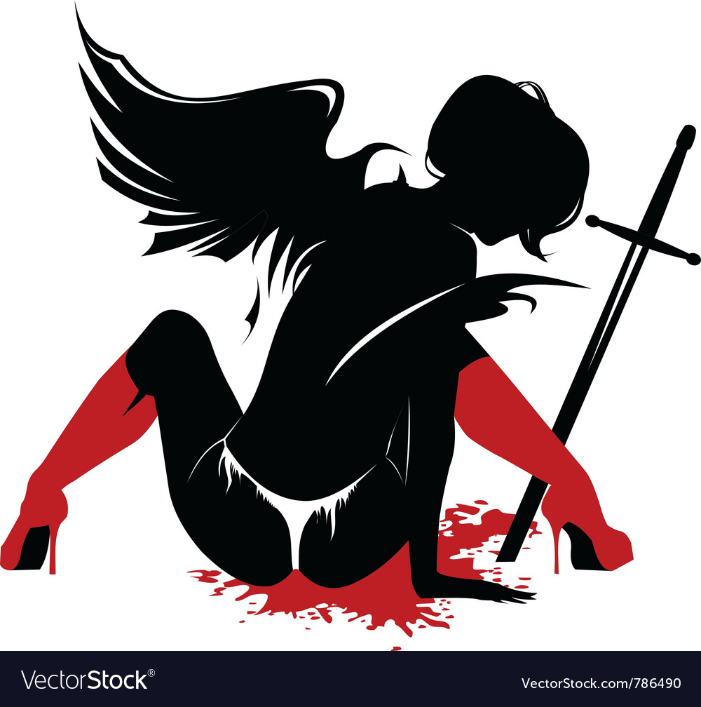 Evil angel vector