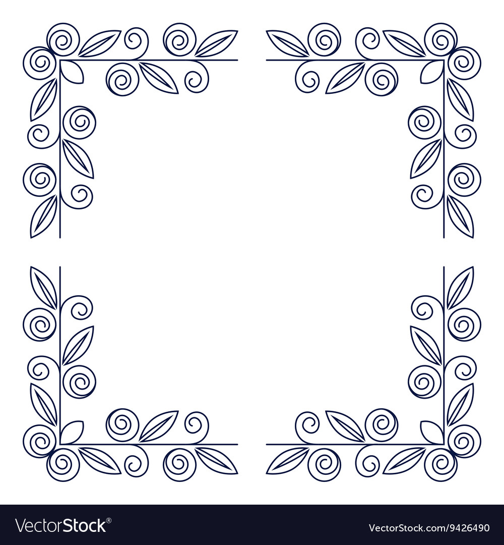 Frame with rose flowers vector