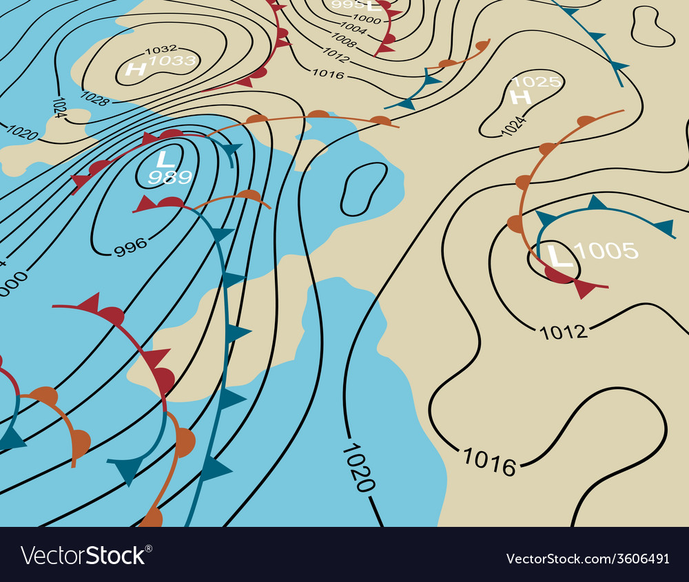 Weather system map vector