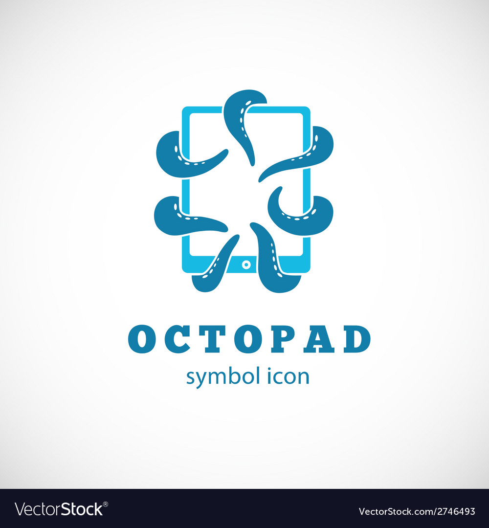 Octopus pad concept symbol icon or logo template vector