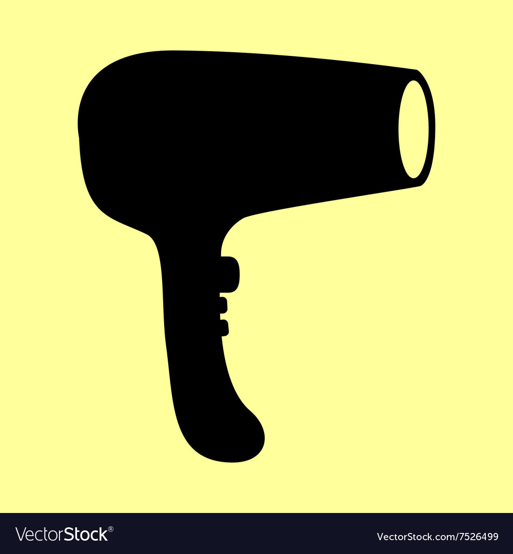 Hair dryer sign vector