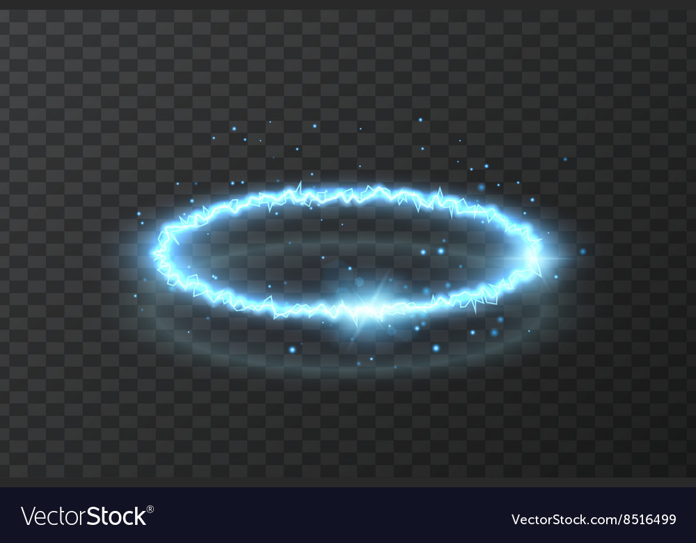 Realistic effect of lightning vector