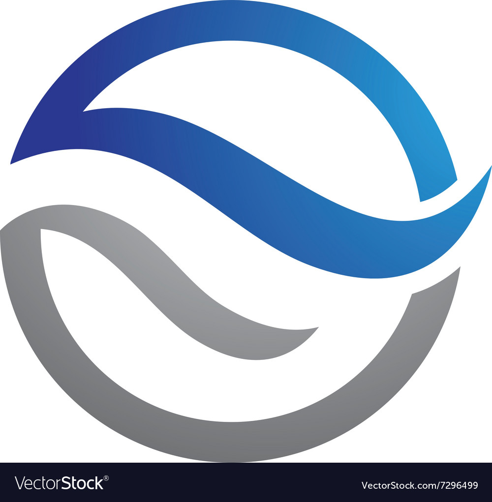 Water icon logo template vector
