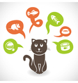 Funny cartoon cat vector image