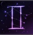space symbol of gemini of zodiac and horoscope vector image