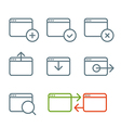Different web browser icons set with rounded corne vector image