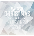 merry christmas card triangles design vector image vector image