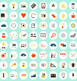 SEO icons big set vector image